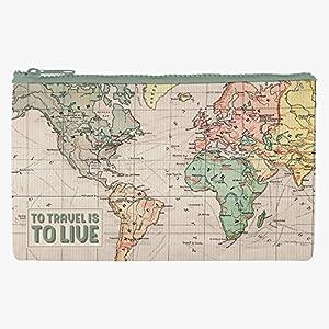 Estuche material reciclado diseño Mapa.