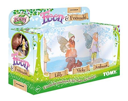TOMY My Fairy Garden Feen & Freunde Erweiterungsset - Drei der beliebtesten Feen & ihre tierischen Begleiter als Ergänzung zur wundervollen Spielereihe - 1x Spielfiguren Set ab 4