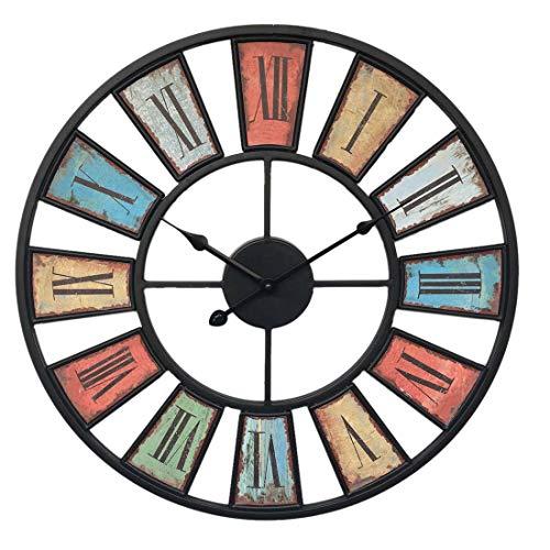 GANADA Reloj de Pared Vintage, 50cm Reloj de Pared Silencioso Decoración Adorno para Hogar Salon Oficina Comedor Habitación (A)