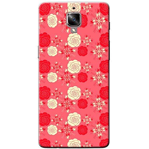 Elegante Rosen Rot & Creme Hartschalenhülle Telefonhülle zum Aufstecken für OnePlus 3T -