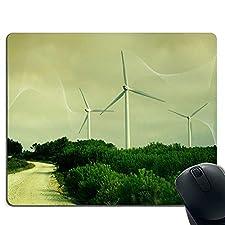 Großes Windmühlen-Mauspad, Rutschfeste Gummibasis, geeignet für Computer