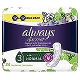 Always Discreet Damen Slipeinlagen Normal bei Blasenschwäche und Inkontinenz, 24Stück