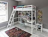 Noa and Nani Hochbett High sleeeper mit Schreibtisch in weiß, New York 2'6Loft Bett