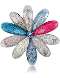 YAZILIND Cristal Fleur De Zircon Corsage Cadeau De Noël Mariage Broche De  Mariée Robe Foulards Châle Clip Lady Alloy Bijoux Sac Ornement… c7345d309c6