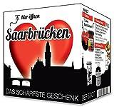 I Love Saarbrücken - Das schärfste Geschenk der Stadt! Ein kleines Souvenir in der praktischen Box.