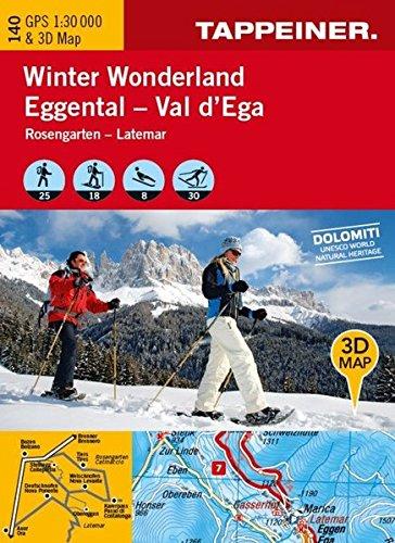 KOAK140 Winterkarte Winter Wonderland Eggental (Winter-Wanderkarten) (Winter-Wanderkarten / Cartine Invernali)