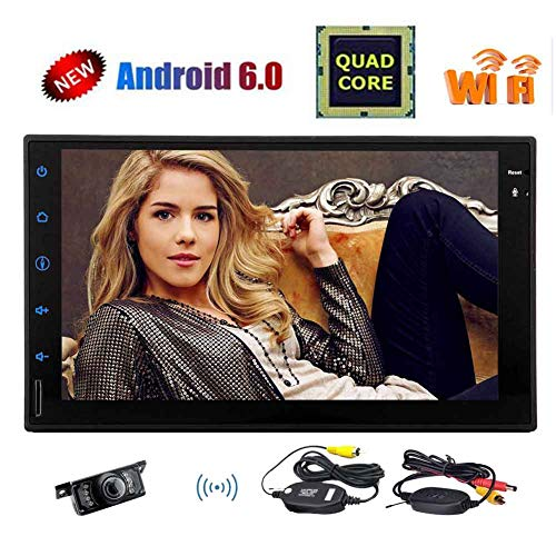 Android Auto-Player, Universal Doppel 2DIN Android 6.0 Autoradio-Stereo 7-Zoll-Touch-Screen High-Definition-GPS-Navigation Bluetooth-USB-SD-Player 1G DDR3 16G NAND-Flash-Speicher f¡§1r Car + Wire Touch High-definition-stereo