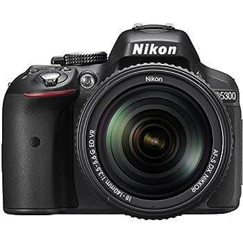 Nikon D5300 24.2MP Digital SLR Camera (Black) with 18-140mm VR Kit Lens, Card and Camera Bag