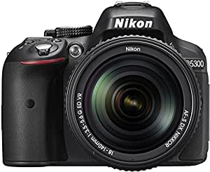 Nikon D5300 24.2MP Digital SLR Camera (Black) with 18-140mm VR Kit Lens, Card and Camera Bag