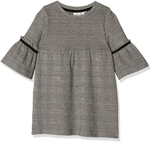 NAME IT Baby - Mädchen NMFSABON LS SWE Dress UNB Kleid, per Pack Schwarz (Schwarz Black), 104 (Herstellergröße: 104) - Black Ls Kleid