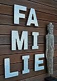 Livitat® Schriftzug Wandbild Wanddeko Familie Industrie Look Loft Living Metall Vintage LV5094