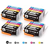 feier 20 Pack PGI-570 XL CLI-571 XL Replacement for Canon PGI 570 CLI 571 Ink Cartridges Work for Canon PIAXMA MG5751 MG5751 MG5750 TS6050 TS5051 TS6052 TS6051 TS5053 TS5055 MG5700 MG5752 MG5753