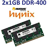 Mustang 2 GB Dual Channel Kit/HYNIX 2 x 1 GB 200 pin DDR-400 64 Mx 8 x (PC-3200) originale doppio lato 16 per DDR1 NOTEBOOK