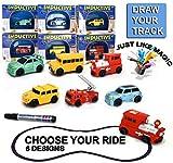 beitsy Starworld selbstfahrend Auto Spielzeug, induktive Truck Zug Bus Modell folgt Ziehen, Line durch Magic Pen Marker/zufällige Muster