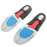 Orthotic Insoles for plantar fasciitis. Orthopedic Insoles Heel Cushion Arch Supports for Fallen Arches, Flat Feet/sole/ankle pain. Full Foot Orthoses Shock Absorber Instep (6 to 11 UK (39-45 Europe))