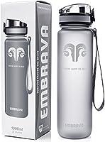 Borraccia per acqua, 950 ml, grande, flusso veloce, con tappo flip-top a perfetta tenuta, si apre in un solo movimento, atossica, priva di BPA, eco-compatibile, in plastica copoliestere tritan