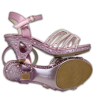 kelsi sandale fille enfant chaussure a talon strass demoiselle d 39 honneur lani res mariage. Black Bedroom Furniture Sets. Home Design Ideas