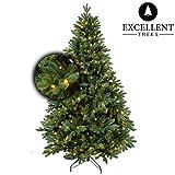 Excellent Trees Weihnachtsbaum LED Mantorp 150 cm mit Beleuchtung - Luxusedition - 190 Lämpchen