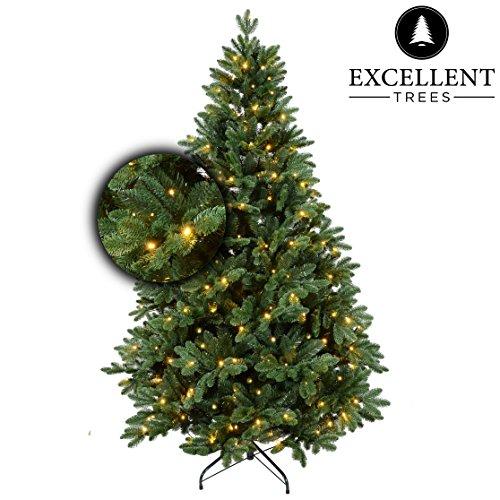 Preisvergleich Produktbild Excellent Trees Weihnachtsbaum LED Mantorp 210 cm mit Beleuchtung - Luxusedition - 380 Lämpchen