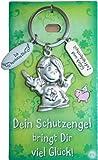 Depesche: Schlüsselanhänger SCHUTZENGEL , Text: Glück und Zufriedenheit