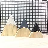 SNOWINSPRING Nordique Region boisee Bois de Montagne decoratif Fait a la Main Serre-Livres pour Enfants Decoration de Maison Montagne en Bois Blocs de Decoration pour Chambre d'enfant