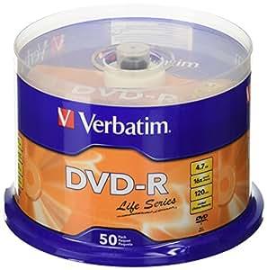 Verbatim DVD Recordable Spindle 4.7 GB (Pack of 50)