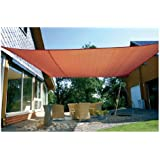 Eduplay - Tenda da sole per esterni a vela, color ruggine, 6 x 4 m