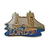 Lovely Tower Bridge of London, England UK Anstecknadel Souvenir. Souvenir/Speicher/MEMORIA. Rot, schwarz und gold Metall und Emaille London, England British UK zum Sammeln Tower Bridge Badge Anstecknadel. Eine schöne, detaillierte British Souvenir épinglette/Anstecknadel/spilla/PERNO de la SOLAPA.