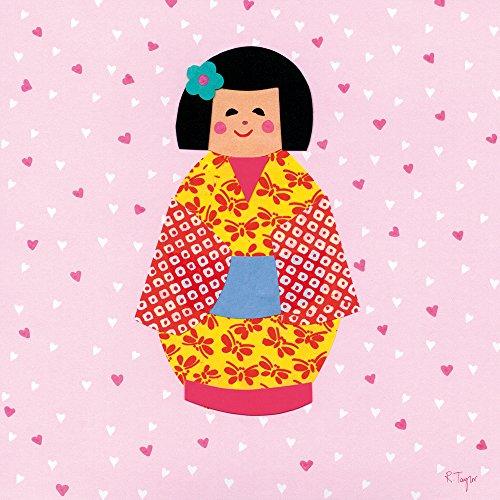 Happy Spaces Kunstdruck auf Leinwand, für Kinder _ PARENT, Doll Face by Rachel Taylor, 40 x 40 x 2 cm