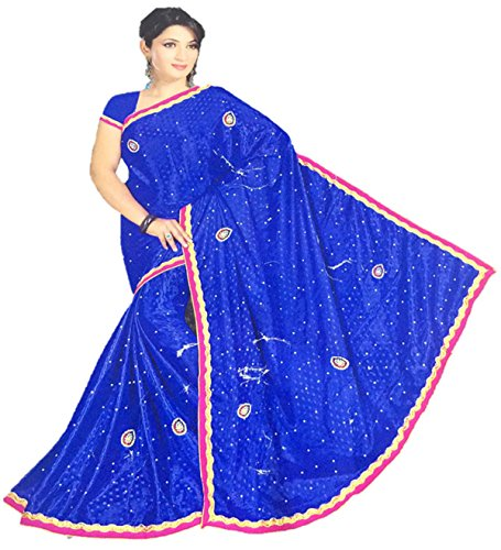 Oney Stone With Velvet Worked Sarees Saree (Oney/Sar/15985542/25_Violet)