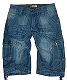 m.g.fashion Herren 3/4 Bermuda Cargo Jeans Hose, Blue Used (BG-820), Gr.XL W36 (= Size 38)