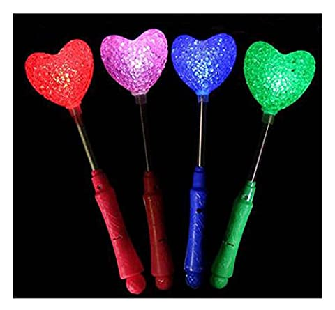 Set von 4 Lichtstöcken, Glow Stick Party Gefälligkeiten, Cœur [Multicolore]