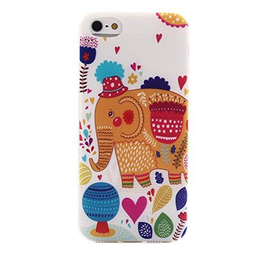 MOONCASE Etui pour iPhone 5G / 5S Gel TPU Silicone Case Cover Housse Coque Étui Mi03 Mi12 #1122