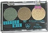 Collection Little Mix Eyeshadow Trio Palette ~ Jade ~ Dark Green Brown Gold Shimmer