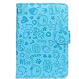 zolimx Caso para 7 pulgadas Tablet Android, nuevo Universal cuero Flip soporte funda (azul)
