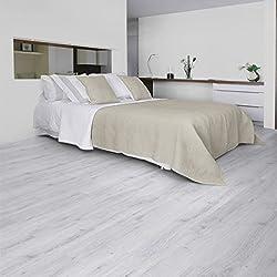 """'Gerflor Senso Adjust """"0286Sunny White in vinile, Selbstl iegend Design, in legno chiaro-Laminato in vinile"""