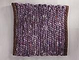 Tisca GRÖNLAND SKY handgewebter handweb teppich für das Wohnzimmer, Esszimmer, Schlafzimmer und Küche geeignet (Muster, 370 lila)