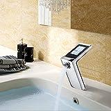 QYJ Waschtisch-Waschtischbatterie Kupfer-Waschtischarmatur Intelligente Konstanttemperatur-Touchscreen-Bedieneinheit