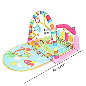 Trendi® 3 in 1 Baby Piano Play Gym Play Mat - Music and Lights - Green
