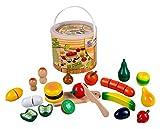 Happy People 45043 - Holz-Obst und Gemüse im Eimer, Küchenspielzeug