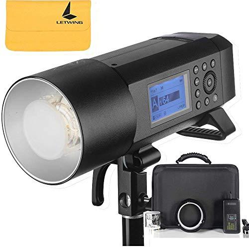 Godox AD400Pro 400Ws HSS TTL Selbst Blitz All-in-One Außen Blitzlicht 2.4G GN72 mit Li-Ion Akku 0.01~1s Recycle Zeit für Canon E-TTL II Nikon i-TTL Blitz Sony Fuji Olympus und Panasonic -