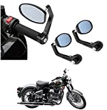 #10: AutoSun Bar End Mirror Rear View Mirror Oval For Royal Enfield Classic 500
