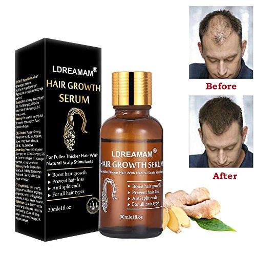 Anti Haarausfall Serum,Haarwachstums Serum,Hair Serum,Schnelle Haarwachstum Essenz,Anti Haarausfall,Wirksame Lösung für Haarverdünnung & Bruch- für Männer und Frauen