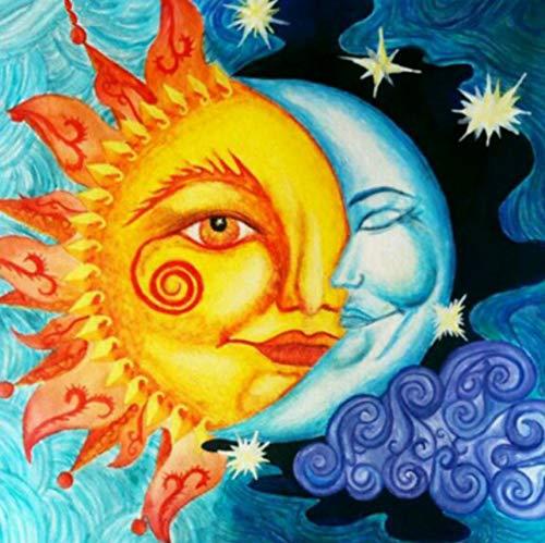 BAIYUDE Mond Mit Sonne VollMosaik Malerei Bohrer Harz Stickerei 5D DIY Diamant Malerei Handgemachte Kreuzstich Diamondart Geschenk 50x50 cm