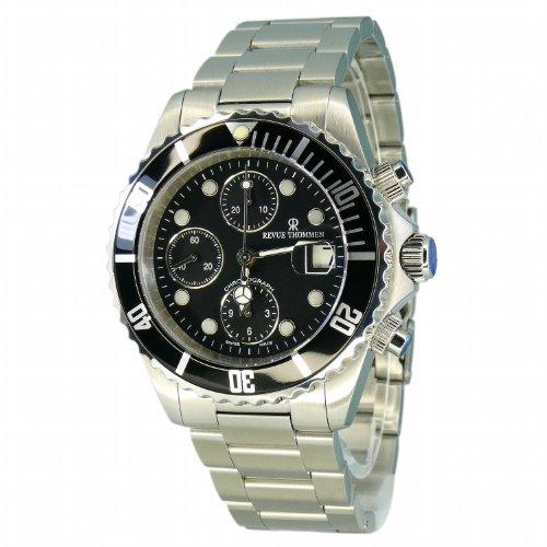 Revue Thommen–Reloj de pulsera para hombre XL Diver Cronógrafo Automático Acero inoxidable 17571.6137