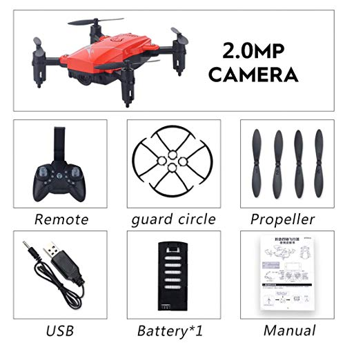 Gwendoll LF602 2.4G Mini FPV RC Quadcopter Drone Aircraft Plegable con cámara 720P HD WiFi Gesto Selfie Altitude Hold