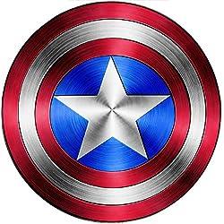 StickersNews 15076 - Adhesivo decorativo, diseño del escudo del Capitán América, altura 15 cm