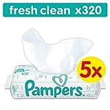 Pampers Fresh Clean Feuchttücher, 320 Tücher, 5erPack (5 x 64 Stück)