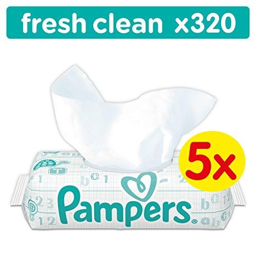 PAMPERS Lingettes bébé Fresh Clean (Lot de 5 paquets de 64 lingettes)