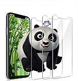 9HDClear [3 Stück] Panzerglas Schutzfolie für iPhone XS/iPhone X Blasenfrei Anti-Kratzen 5.8 Zoll